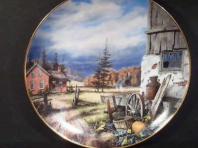 Danbury Mint Country Memories Rudi Reichardt SO GOOD TO BE HOME Ltd Ed Plate