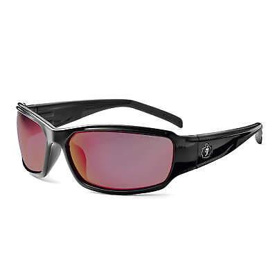 Skullerz Thor Safety Glasses with Red Mirror Lens and Black Frame