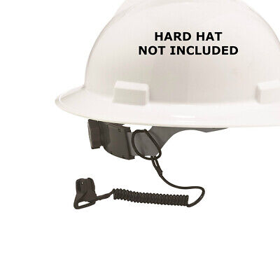 squids 3158 Coil Hard Hat Lanyard with Clamp Black
