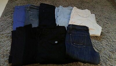 Job Lot x 8 Ladies Size 10 Trousers/Jeans