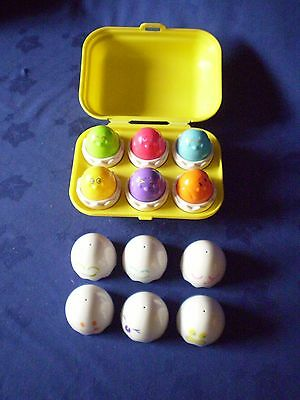 Tomy 1993 Hide And Squeek Eggs Toy...learn Sounds Shapes And Colours