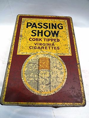 Antique Passing Show Cigarettes Vintage Advertising Tin London  Collectible Edh