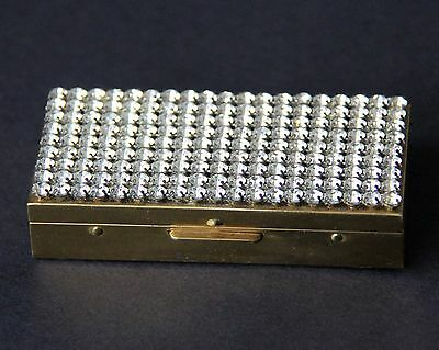 Vintage Trickettes by Wiesner of Miami Rhinestone Cigarette Pill Case Box Wallet