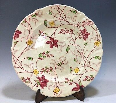 "Vintage Chelsea Chintz Taylor Smith And Taylor Co. Bread Plate - 6 1/4""D"
