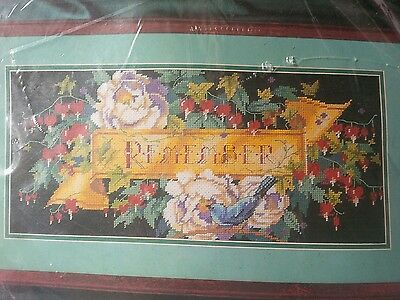 XStitch Kit Bucilla Needlepoint Floral Rememberance # 4730 Sealed