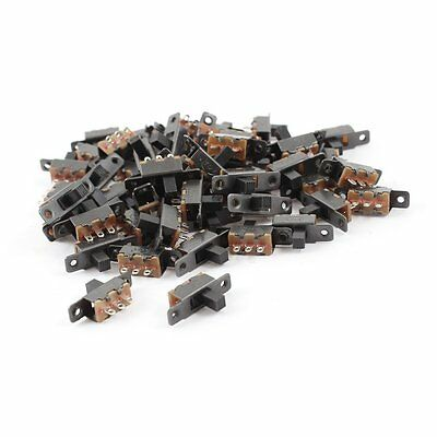 55 Pcs 3 Terminals PCB Mount 2 Position 1P2T Mini Slide Switch S3X8