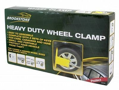 Heavy Duty Security Wheel Clamp Heavy Duty Lock Car Van Caravan Trailer Safety