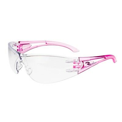 Radians Optima Safety Glasses Clear Lens Pink Temples