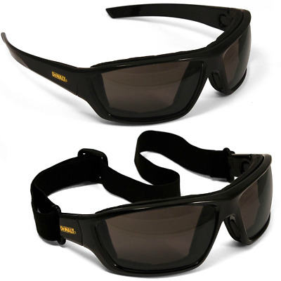 DeWALT Converter Safety Goggle Glasses with Smoke Anti-fog Lens and Black Frame