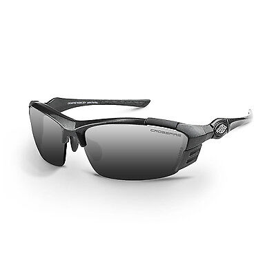 Crossfire TL11 Safety Glasses - Silver mirror lens, Shiny pearl gray frame