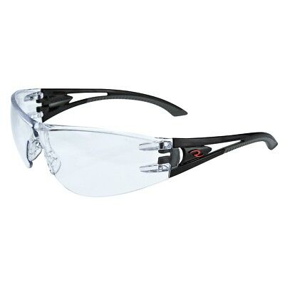 Radians Optima Safety Glasses with Clear Anti-Fog Lens, Black Temples