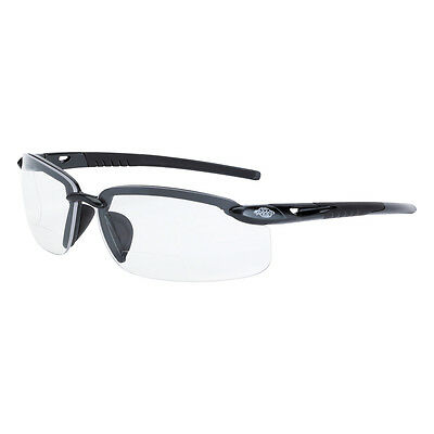 CrossFire Bifocal Safety Glasses with 1.5 Clear Lens, Black Frame