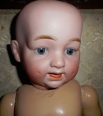 """24"""" bisque antique character doll"""