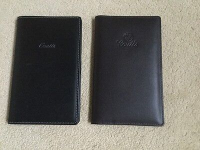 Original COUTTS Bank Genuine Leather Pocket Diary Address Book Holder X2