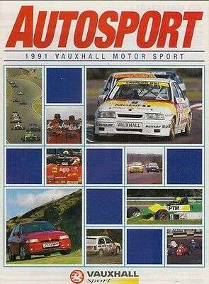 Vauxhall Motor Sport 1991 Supplement UK Market Brochure Autosport Astra GSi