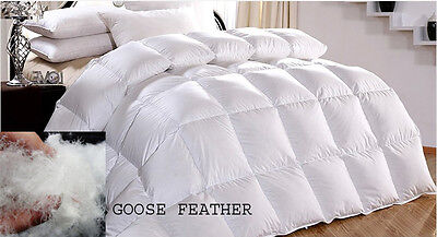 LUXURY HOTEL QUALITY GOOSE FEATHER DOWN DUVET QUILT 13.5 All Bed Sizes