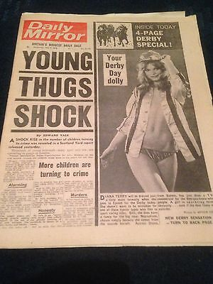 Vintage Daily Mirror 7.6.72 Derby Day Plus 4 Page Special