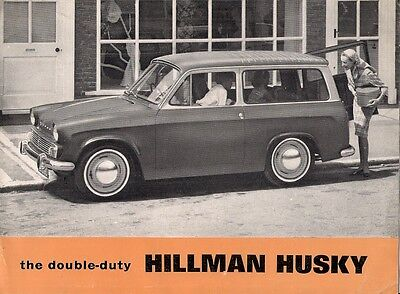 Hillman Husky Series III 1963-64 UK Market Sales Brochure