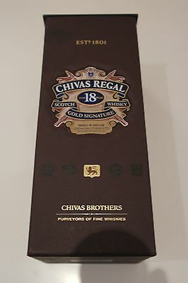 Chivas Regal 18 year old Empty Box / Case - for collection or use as a money box