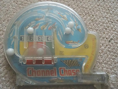 Vintage 1950S Channel Chaser Plastic Bagatelle Game, Made By Mar, Gt Britain