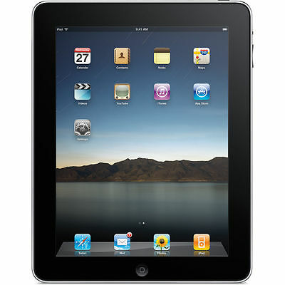 Excellent Condition Apple iPad 1st Generation 32GB, Wi-Fi, 9.7in - Black - 3RFS