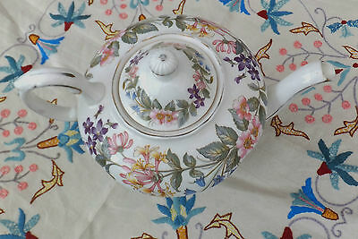 Vintage Queens Royal Appointment Tea Set English Country Lane Flowers Fine China