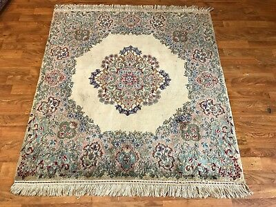 Antique Hand woven Persian square Kerman rug size 3'x3' decorative rug