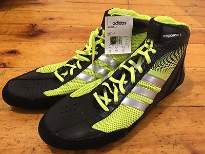 New Adidas Response 3.1 Yellow Wrestling Shoes 15