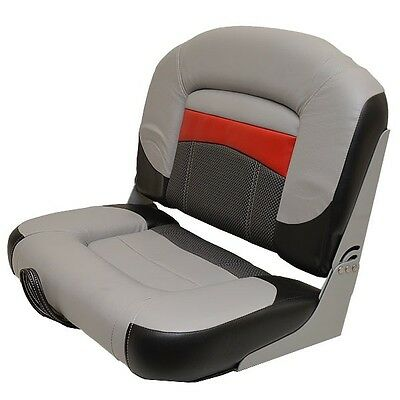 Tracker Bass Boat Fishing Seat 177349 Red / Gray / Black