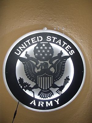 Army Metal Led Neon Bar Sign Man Cave Garage Military  Armed Forces
