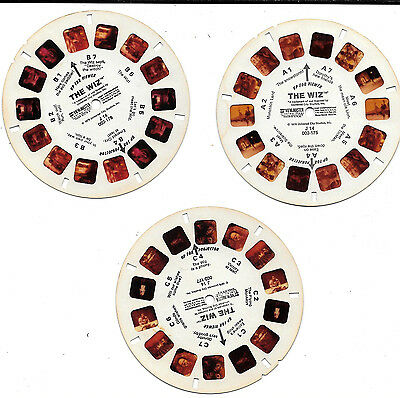 The Wiz 3 D View Master 3 Reels ~ Michael Jackson, Diana Ross, Nipsey Russell
