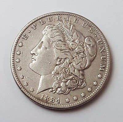 U.s.a - Dated 1884 - Silver - Morgan - $1 One Dollar Coin - American Silver Coin