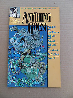 Anything Goes 2 .  F. Miller Cover . Comics Journal - 1986 - FN +