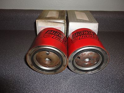 Lot of (2) New Vintage Baldwin Oil & Fuel Filter B-296 IHC Tractor Fiat Renault