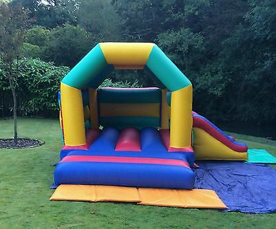 Commercial Multi Coloured Combo Bouncy Castle With Blower