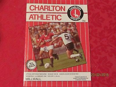 Charlton Athletic v Millwall 1985/86  - Great condition