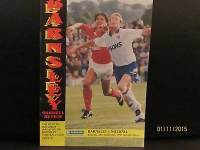 SOUTHEND UNITED v MILLWALL 1991/92 MATCHDAY PROGRAMME