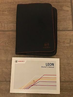 Genuine Seat Leon Owners Manual And Wallet 2012-2016
