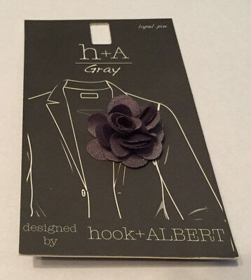 Hook & Albert Boutonniere Lapel Pin, Gray, One Size MSRP $25