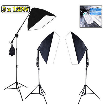 2025W Photography Soft Box Continuous Lighting Studio Softbox Boom Arm Stand Kit