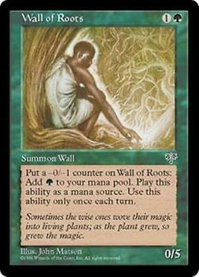 Magic the Gathering MTG -Wall of Roots Mirage NM x 2