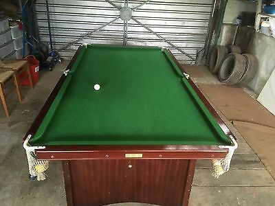 1/4 Size Slate Bed Snooker/ Pool Table