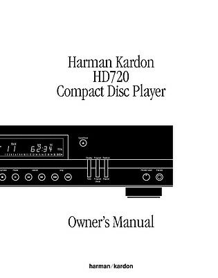 harman kardon hd7450 cd player owners instruction manual 18 99 rh picclick com
