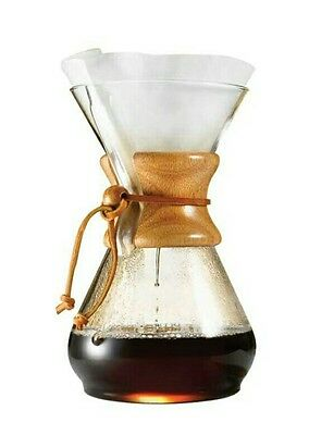 Chemex 10-Cup Classic Series Glass Coffee Maker + Diguo Paper Coffee Filters