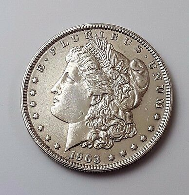 U.s.a - Dated 1903 - Silver - Morgan - $1 One Dollar Coin - American Silver Coin
