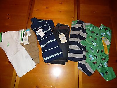 Boy's Lot of NWT size 4 4T Clothes, Sets, Pajamas, Chaps, Nautica