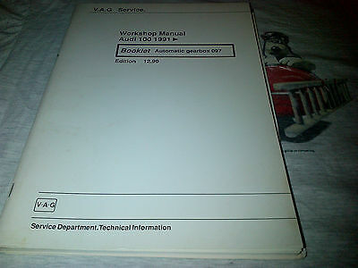 Audi 100 1991 onwards Factory Workshop Manual automatic gearbox 097