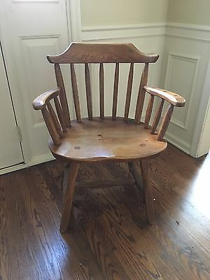 Country Hunt Solid Wood End Dining Chair