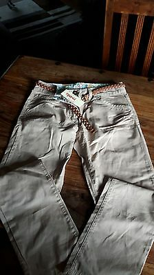 Girls  Chino Trousers From Next, New With Tags, Age 13 Years