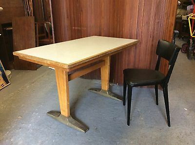 Vintage school desk/1950's table/Industrial table/vintage desk/1960's desk